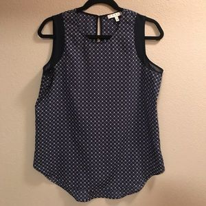 Chaus Tops - Chaus, Navy Patterned Top